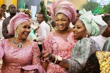 [Beautiful Photos]: Asoebi Guests At Media Mogul, Mo Abudu's Daughter's Wedding