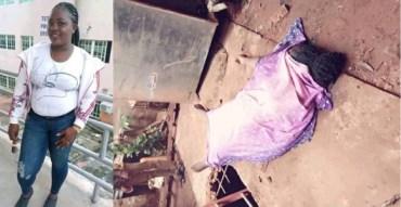 SAD! Beautiful Nigeria Lady Preparing To Travel Abroad Falls Into Soakaway Pit And Dies