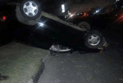 [Photo]: MC Shakara involved in ghastly car accident