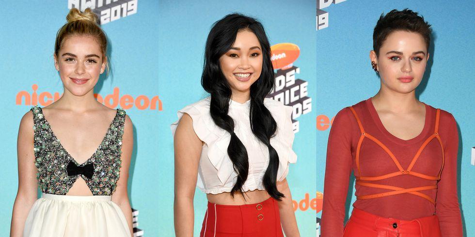 kiernan shipka lana condor joey king tcas 2019 1553387801 - 2019 Kids' Choice Awards: See photos from the orange carpet [Photos]
