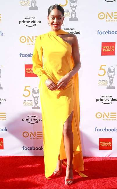 rs 634x1024 190330182357 634 Laura Harrier GettyImages 1139371649 - [Photos]: 2019 NAACP Awards: Checkout some of the best dressed celebrities on the red carpet