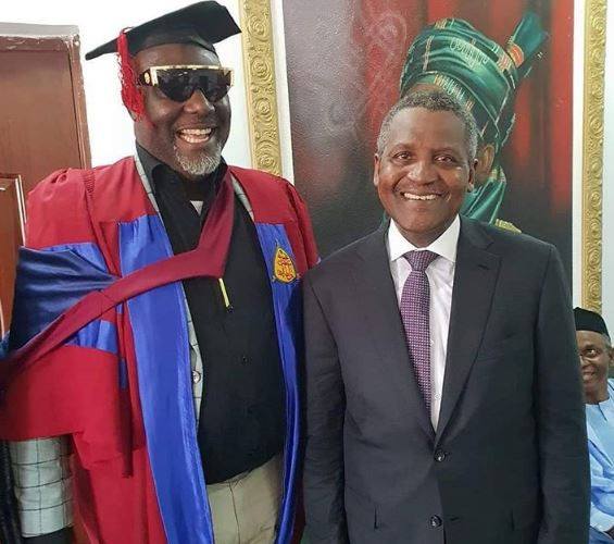1 17 - [Photos]: Aliko Dangote supports Senator Dino Melaye's at his convocation