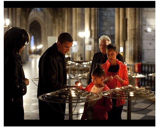1 44 - Notre Dame Fire: Barack Obama sympathizes with the people of France