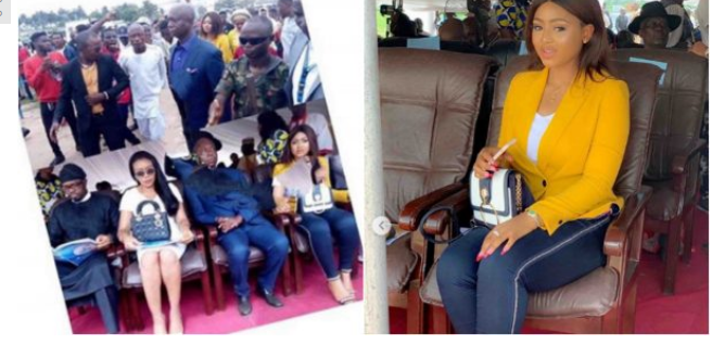 [Photo]: Regina Daniels and Ned Nwoko spotted in public together for the first time