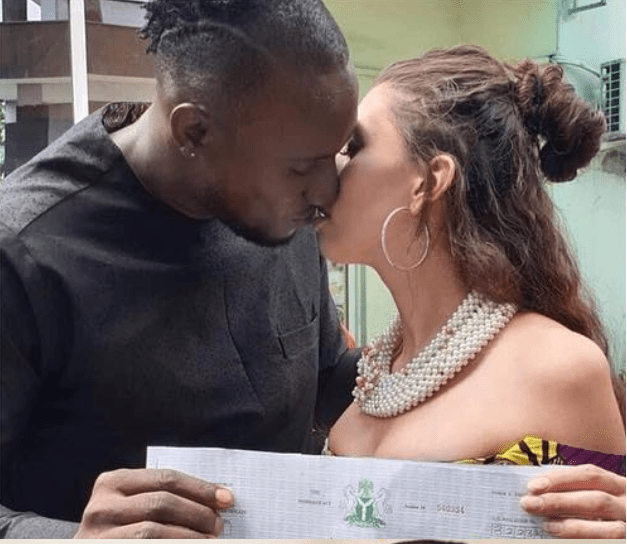 1 87 - [Photos]: BBNaija's Angel marries his Canadian girlfriend in Port-Harcourt