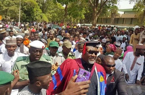 2 9 - [Photos]: Aliko Dangote supports Senator Dino Melaye's at his convocation