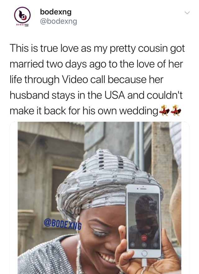 31ACA5E5 9708 4427 BCC0 5EAE9DFDE33C - Nigerian woman weds her US-based boo via a phone call
