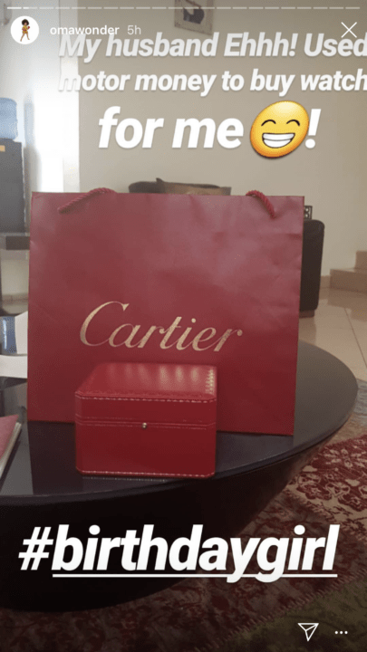 4A06FE0F DA9C 4B5B 9EC2 2F180FFF104E - [Photo]: See what Omawumi's husband got her for her birthday