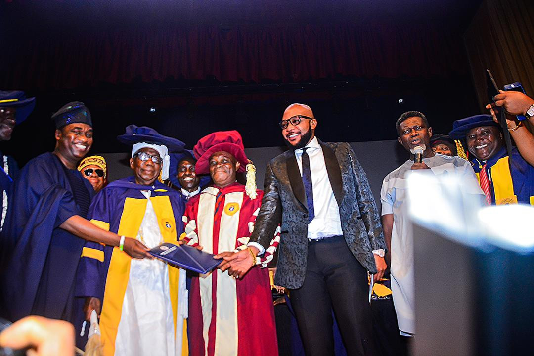 [Photos]: Five Star Music boss E-Money bags honorary Doctorate Degree