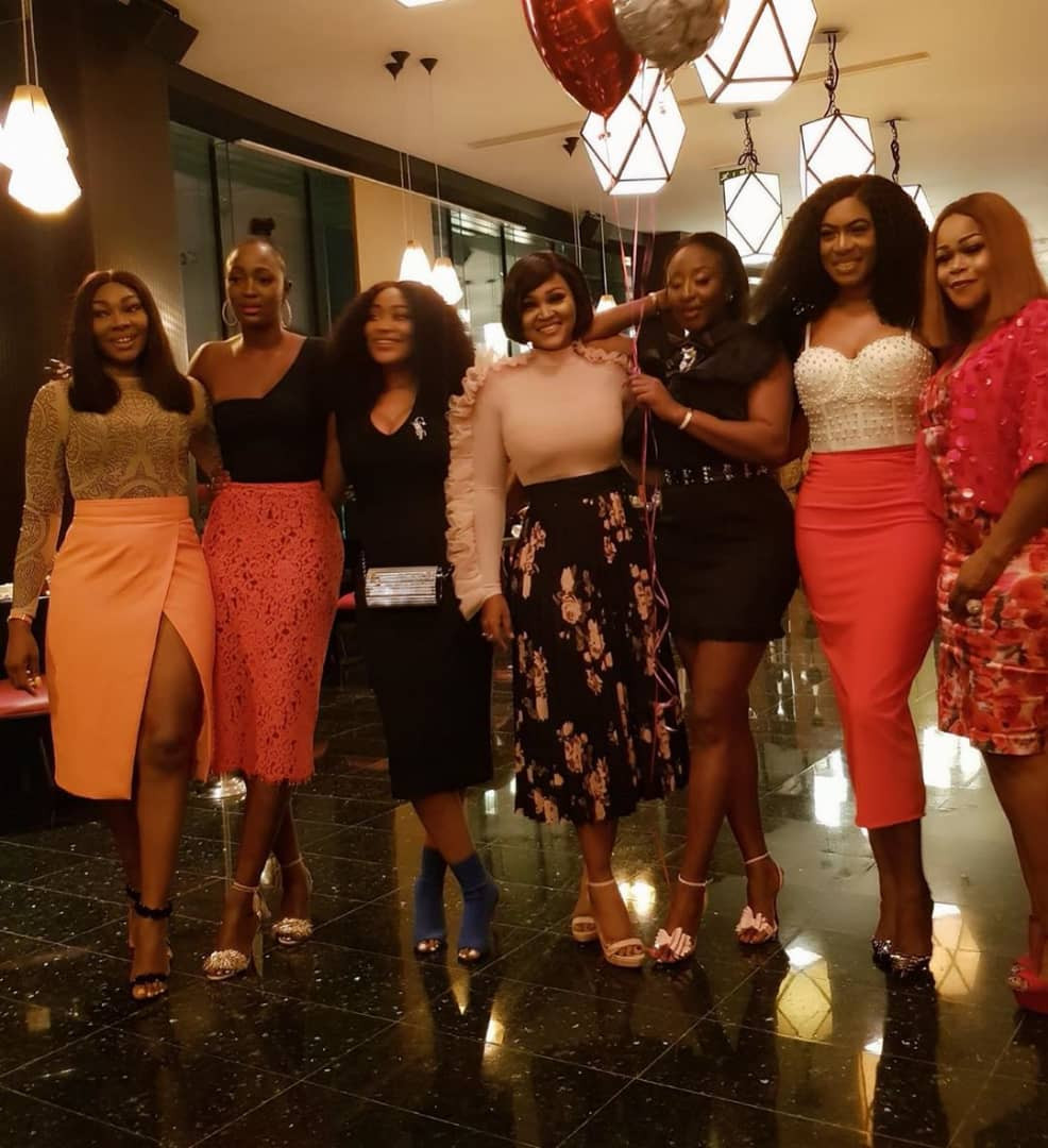 5cbeaaae74974 - [Photos]: Toke Makinwa, Mercy Aigbe, others attend Ini Edo's birthday party