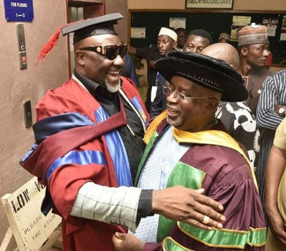 5cc57fa7cc677 - [Photos]: Aliko Dangote supports Senator Dino Melaye's at his convocation