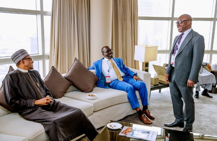 9140512 screenshot20190408131155 jpeg4f3c25a833d2c7dced64ca0680011568 - [See Pictures] President Buhari 'chilling' with world leaders in Dubai
