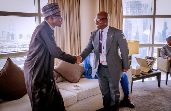 Buhari chilling with world leaders in Dubai