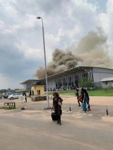 Bushfire at Sam Mbakwe International Airport