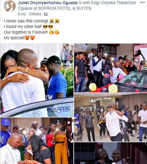 9186653 nigerianmanproposestohisgirlfriendwithabrandnewcarunclesuru1 jpeg8ce801348a440d891eb2aac4e9bfe9ed - [Pictures] Man Propose to a Lady with a Brand New Car