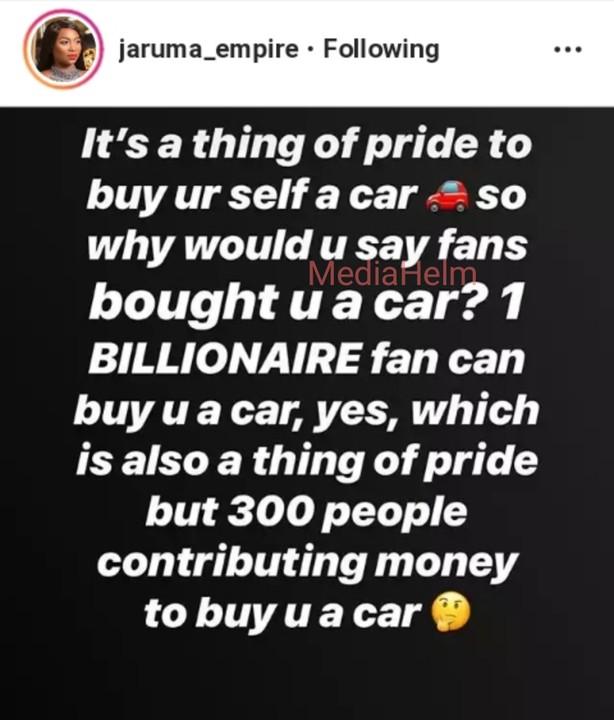 9243773 photogrid1556052783574 jpeg74f4765c9c606c8e9f838c205ebaa7c1 - 'I don't believe your fans bought you a car' – Jaruma queries Bambam's claim