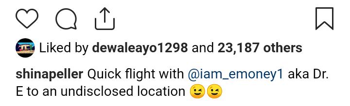 9265663 screenshot20190427032659 pnga312bcfbf5d5e2548cb12f98d945e742 - [Photo] Shina Peller Looking Fly Alongside E-money on Flight