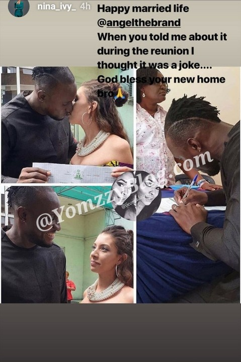 9289288 img20190430182946671 jpeg391c66b5a192f590f6224e29993d7752 - 'I Thought Angel Was Joking About His Wedding' – BBNaija Star, Nina Reveals
