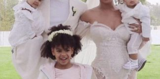 [Photo]: Beyonce shares rare photo of her and her kids