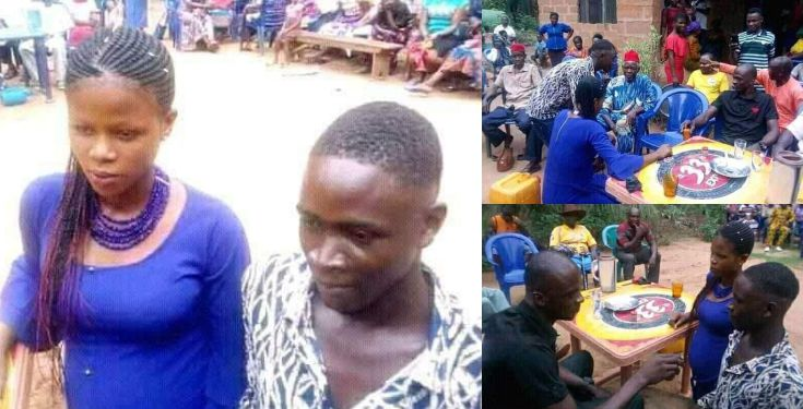 Boy forced to marry teenage girl he Impregnated In Anambra Photos - Drama As Boy Forced To Marry Girl He Impregnated In Anambra