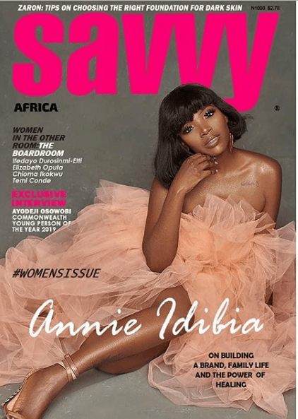 Capture 3 - [Photos]: Annie Idibia covers latest issue of Savvy Magazine