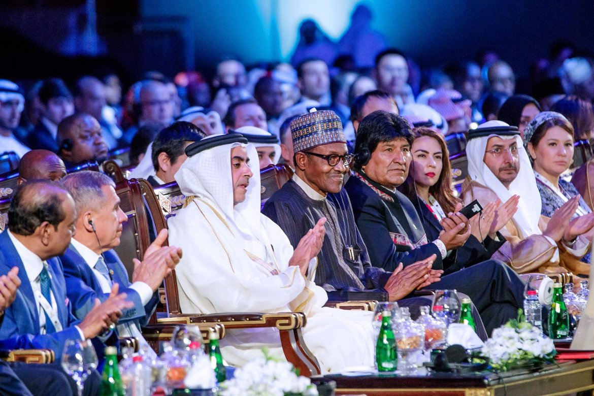 D3oC6bjW0AENnd8 - [See Pictures] President Buhari 'chilling' with world leaders in Dubai