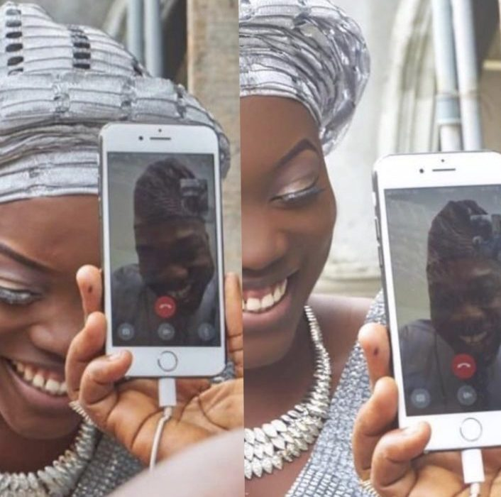D951D5F8 C407 4680 B720 4473FDBB72B0 - Nigerian woman weds her US-based boo via a phone call