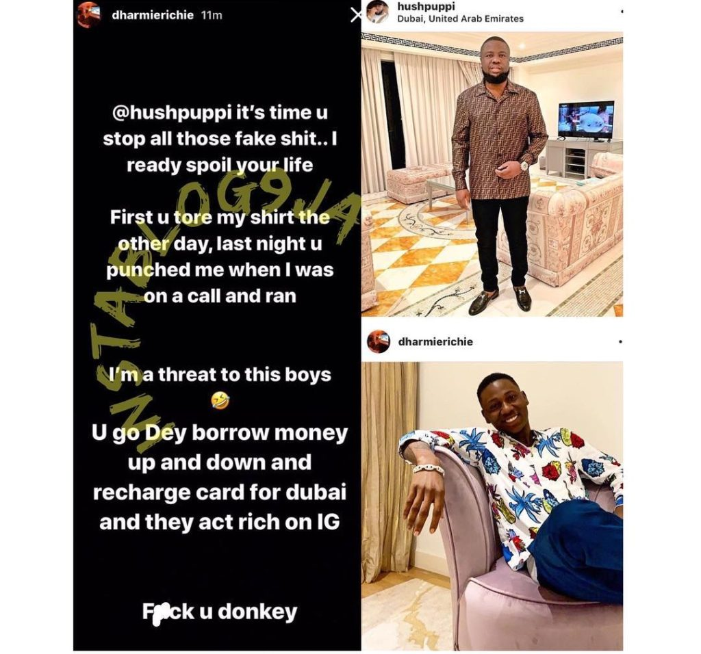 Screenshot 20190412 101352 1024x956 - [Screenshots]: Nigerian Big Boy Threatens To Expose Hushpuppi Fake Life
