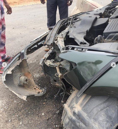 actress biola bayo involved accident 2 1 - Actress Biola Adebayo Survives Ghastly Car Accident