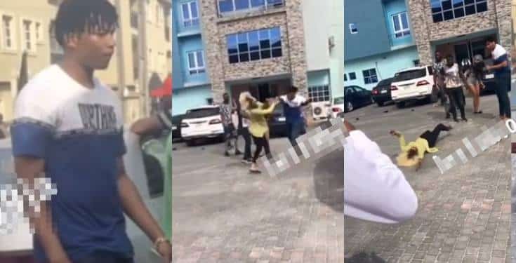 [Video] Angry Boy Beats Lady To Coma On Her Birthday In Lagos