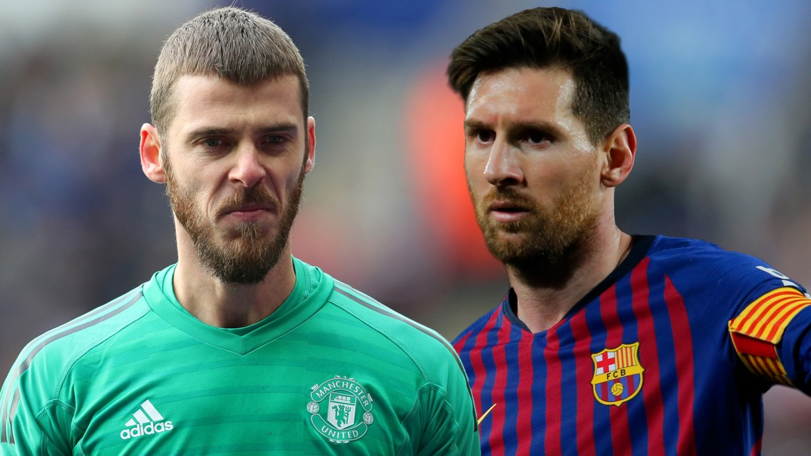 david de gea lionel messi tf2jy02upcxu1kugqhi0i6yac - Manchester United Keeper, De Gea Undergoes 'Special Preparation' For Messi