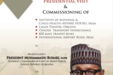 Lagos state government wants Buhari to commission an uncompleted terminal building in Oshodi, What a country – Nigerians