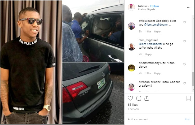 small - Nigerians Hail Small Doctor After Stopping His Vehicle To Help Accident Victims
