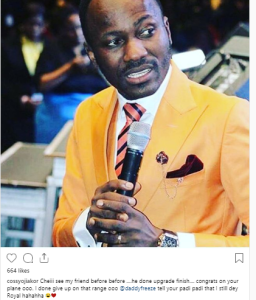 """sule - """"My Padi Before Before Don Upgrade Finish"""" – Cossy Orjiakor On Apostle Johnson Suleman's Private Jet"""