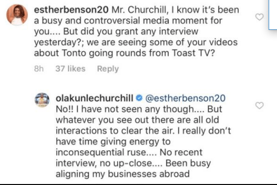 'I have no time for inconsequential ruse' - Churchill breaks silence