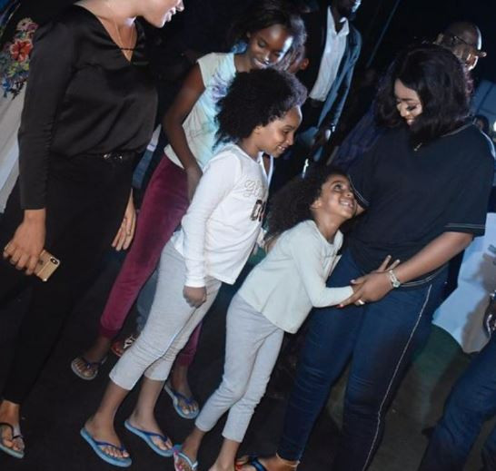 1 - [Photos]: Regina Daniels steps out with her husband and his kids