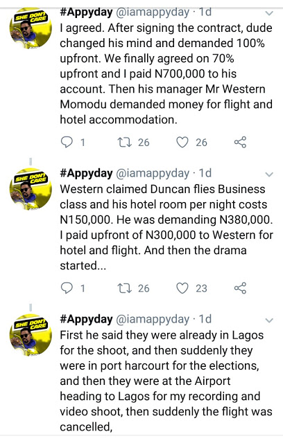 2 3 - Norway-based Artist, Appyday Reveals How Duncan Mighty Swindled Him of 1Million Naira