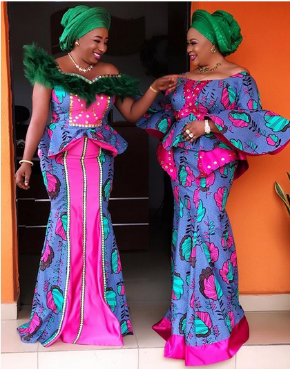 4 2 - Mide Martins, Mercy Aigbe, attend the burial ceremony of Biodun Okeowo's mum