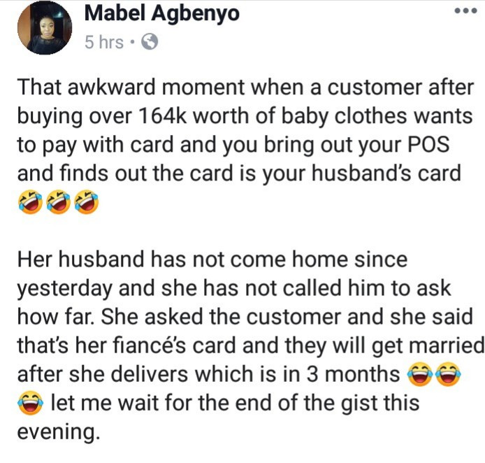 5cd748054c207 - Lol! See how a Nigerian wife found out her husband had been cheating on her