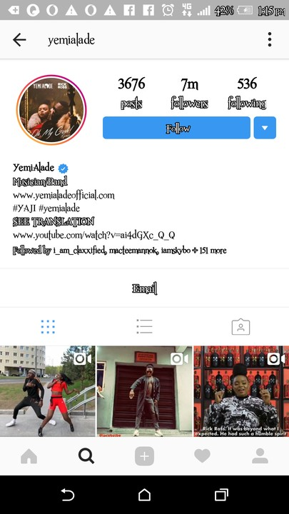 9347737 screenshot20190508131504 jpegb3330fc5e8c0e717435652585ecdebb5 - Singer, Yemi Alade Becomes Most Followed Female Celebrity on Instagram