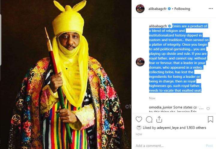 9361267 alibabareactstogandujesplittingemirsanusiskingdomshadeskanomonarchunclesuru1 jpega0687baf4e9c04daec513bfc0d0c934c - 'If a King Cannot Speak in His Domain, Should Exit the Throne' – Alibaba Reacts