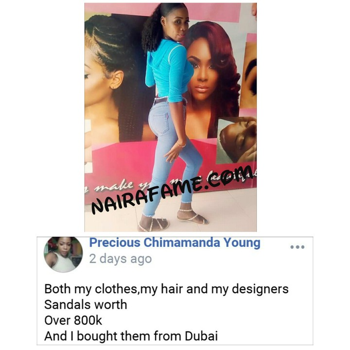 9368431 1557560627828 jpeg939bece9ad2c00448e3956cb8efb1418 - [Picture] See the N800k outfit worn by a Nigerian Lady that got Nigerians talking