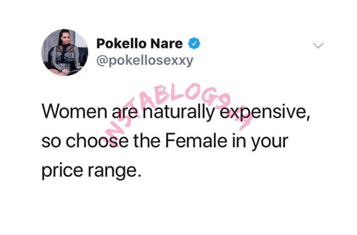 9399182 screenshot20190515144821 png0a5555fdde53a74cee2fe55de89006c5 - 'Women Are Expensive, Choose Your Range' – Big Brother Star, Pokello
