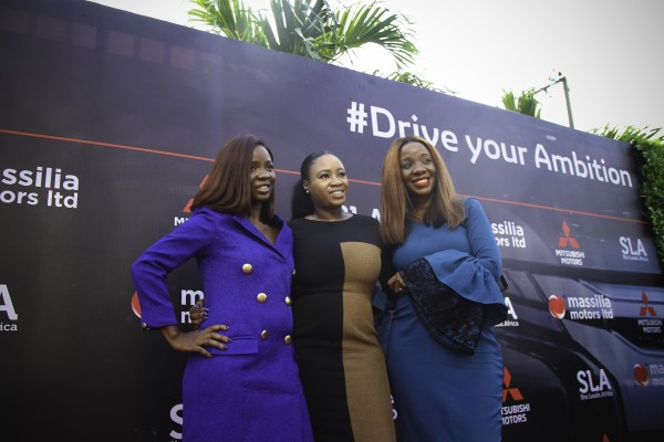 Tomie Balogun Ife Durosinmi Etti and Omilola Oshikoya - Mitsubishi Motors and She Leads Africa come together to support women in Nigeria's corporate world