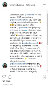 """dra - """"Apologize to Your Ex-husband if you want God to give you unlimited happiness"""" – Actor Slams Tonto Dikeh"""