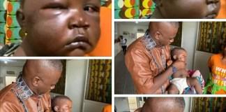 Horror!!! Liberian Father beats baby mercilessly