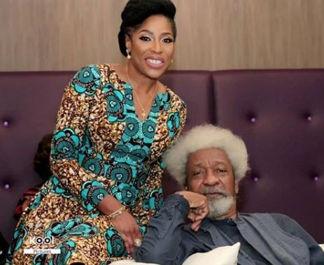 Wole Soyinka, Mo Abudu finally react to the 'plane seat' saga