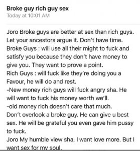 LADY NARRATES WHY BROKE GUYS ARE BETTER IN BED THAN RICH GUYS LADY NARRATES WHY BROKE GUYS ARE BETTER IN BED THAN RICH GUYS d 1 279x300