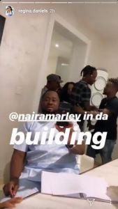 [VIDEO]: Singer, Naira Marley Visits Regina Daniels And Other Nollywood Actors