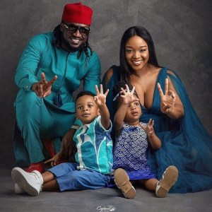 Paul Okoye, wife and twins